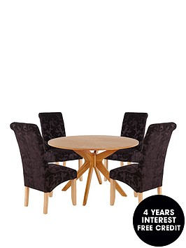 starburst-120-cm-round-dining-table-4-brook-floral-fabric-chairs-buy-and-save