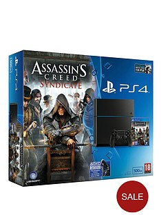 playstation-4-500gb-console-with-assassins-creedsyndicate-watch_dogs-with-optional-12-months-playstation-plus-andor-extra-dualshock-4-controller