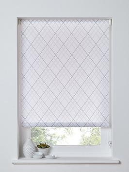 trellis-printed-roller-blind-grey