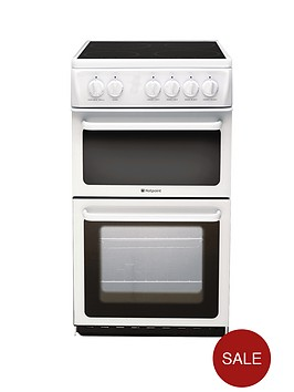 hotpoint-hae51ps-50cm-twin-cavity-electric-cooker-white