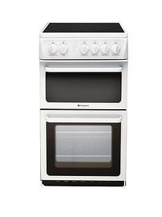 hotpoint-hae51psl-50cm-twin-cavity-electric-cooker-white