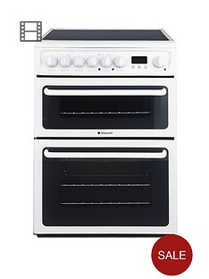 hotpoint-hae60ps-60cm-double-oven-electric-cooker-with-ceramic-hob-white