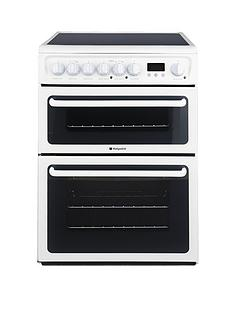 hotpoint-hae60psl-ultima-60cm-ceramic-hob-double-oven-electric-cooker-white