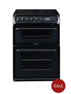 hotpoint-hae60ks-60-cm-ceramic-hob-double-oven-electric-cooker-black