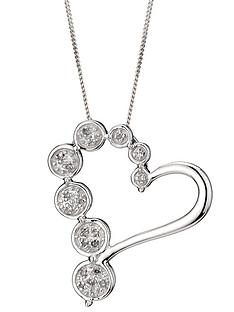love-diamond-9-carat-white-gold-5-point-diamond-bubble-heart-pendant