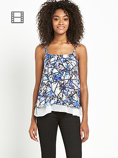 definitions-double-layered-printed-cami