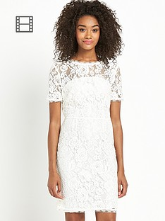 definitions-petite-bow-back-lace-dress