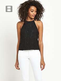 definitions-lace-halter-neck-top