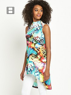 south-butterfly-print-dipped-back-tunic-top
