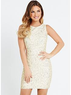 samantha-faiers-metallic-lace-dress-with-cut-out-back-and-neon-exposed-zip
