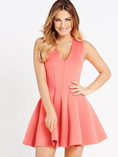 samantha-faiers-neon-scuba-seamed-dress