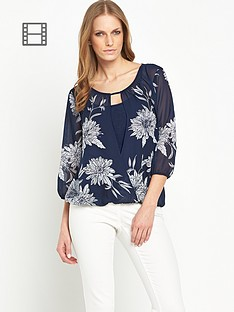savoir-floral-printed-wrap-front-top