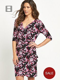 savoir-printed-buckle-wrap-dress