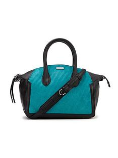 love-my-soul-textured-leather-teal-tote-bag