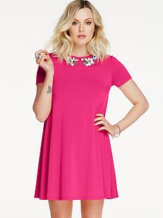 fearne-cotton-embellished-neck-swing-dress