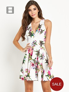 ax-paris-floral-halter-neck-dress