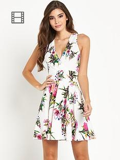 ax-paris-floral-halter-neck-dress
