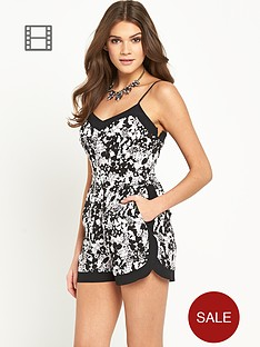 oasis-shadow-floral-cami-playsuit