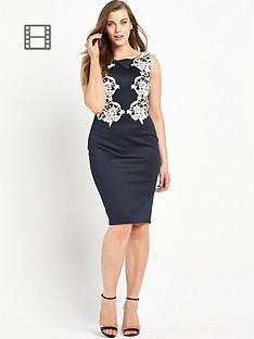 ax-paris-curve-crochet-side-midi-dress