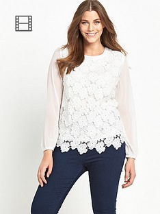ax-paris-curve-crochet-front-blouse