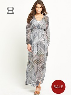 glamorous-long-sleeved-maxi-dress