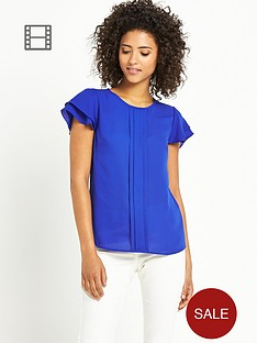 south-short-sleeve-frill-blouse