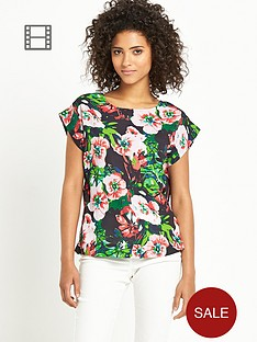 south-floral-print-boxy-top