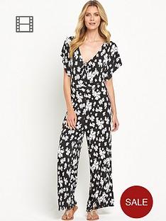 south-floral-print-tie-front-jumpsuit
