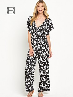 south-floral-print-tie-front-jumpsuit