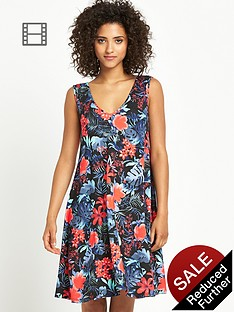 south-tropical-print-smock-dress