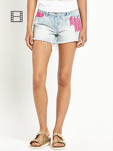 love-label-neon-embroidered-denim-shorts