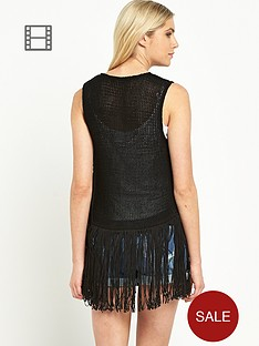 south-fringed-waistcoat-black