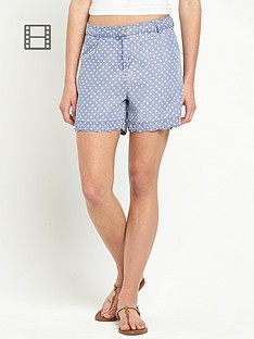 love-label-blouson-polka-dot-shorts