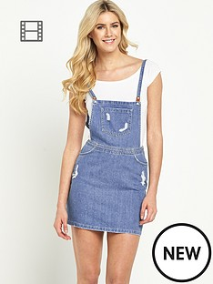 south-lily-dungaree-mini-dress