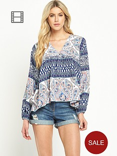 south-v-neck-boho-print-tunic