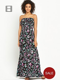 south-printed-frill-bandeau-maxi-dress