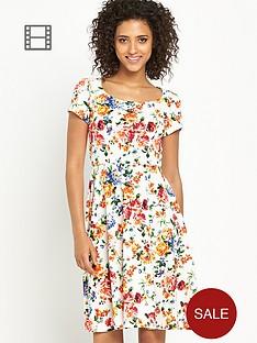 south-floral-print-skater-dress