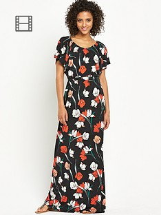 south-petite-poppy-print-maxi-dress