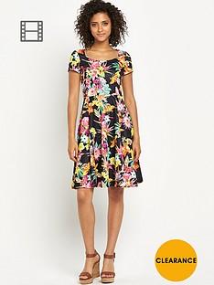 south-floral-print-textured-dress