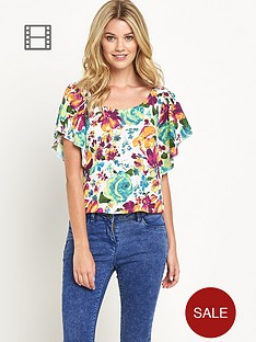 south-printed-angel-sleeve-top