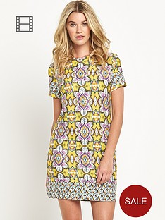 south-tile-print-jersey-tunic-dress