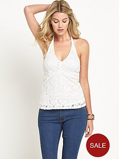 south-halter-neck-lace-top