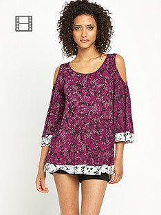 south-cold-shoulder-flroral-print-kaftan