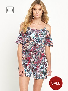 south-cold-shoulder-paisley-print-playsuit