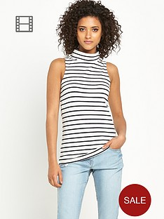 south-stripe-turtle-neck-sleeveless-top