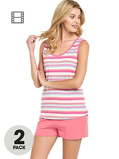 sorbet-holiday-stripe-shorts-set-2-pack