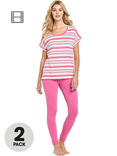 sorbet-holiday-stripe-t-shirt-and-leggings-2-pack