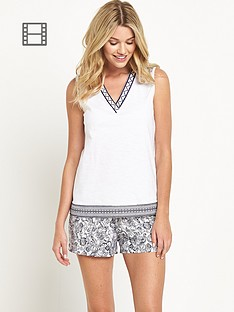 definitions-lounge-boho-shorts-set