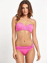 Drape Bandeau Underwired Bikini Top