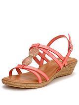 Leona Embellished Wedge Sandals
